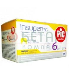 Иголки для инсулиновых ручек Insupen 31G x 6мм 100