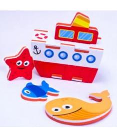 Игровой набор 3D модель для ванной Пароход Meadow Kids (MK 195)