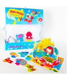 Игровой набор 3D сцена для ванной Королевство русалочки Meadow Kids (MK 038)