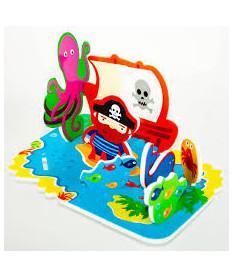 Игровой набор 3D сцена для ванной Остров сокровищ Meadow Kids (MK 036)