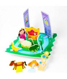 Игровой набор 3D сцена для ванной Замок принцессы Meadow Kids (MK 153)