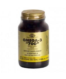Капсулы Solgar Омега-3 700 двойной ЕПК, ДГК 700мг N30