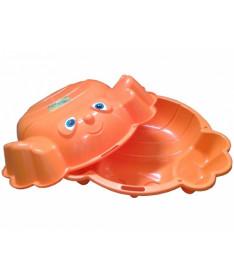 KHW Kunststoff Краб Песочница двойная оранжевая