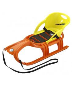 KHW Kunststoff Snow Tiger comfort Санки (оранжевый)
