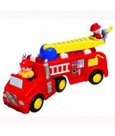 KiddielandPreschool Развивающая игрушка ПОЖАРНАЯ МАШИНА (на колесах,свет,звук)