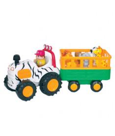 KiddielandPreschool Развивающая игрушка САФАРИ-ДЖИП (на колесах,свет,звук)