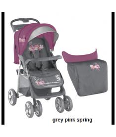 Коляска Bertoni FOXY с чехлом grey pink spring
