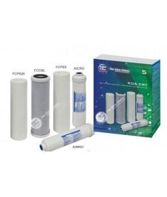 Комплекты сменных картриджей для систем под мойку и систем ОО Aquafilter RO6-CRT
