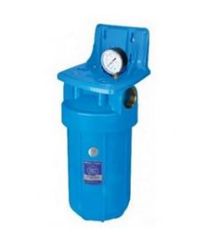 Корпуса фильтров типа Big Blue со стаканами голубого цвета Aquafilter FH10B64