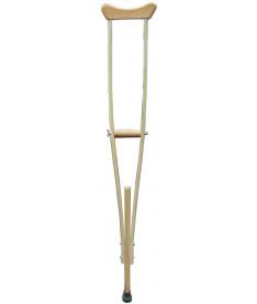 Костыль подмышечный двухстоечный Medok MED-02-002, регулируемый по высоте, деревянный (размер М)