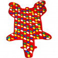 Коврик массажный Медведь Onhillsport MS-1268