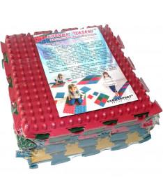 Коврик массажный резиновый для стоп Пазлы Onhillsport MS-1209-2, 6 шт