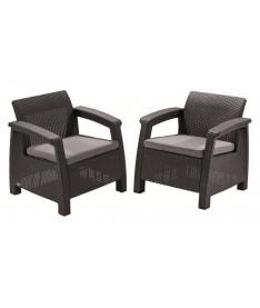 Кресло Allibert Corfu Duo серый