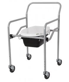 Кресло-туалет с санитарным оснащением регулируемое на колесах Heaco KT-771