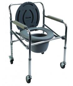 Кресло-туалет с санитарным оснащением регулируемое на колесах Heaco PR-771