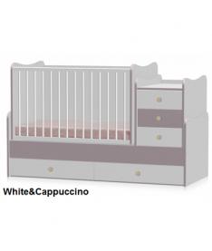 Кроватка Bertoni MAXI PLUS (white/cappuccino)