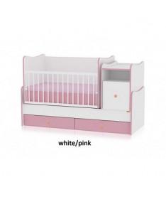 Кроватка Bertoni TREND PLUS (white/pink)