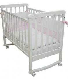 Кроватка детская Верес  ЛД12 белый резьба лапки