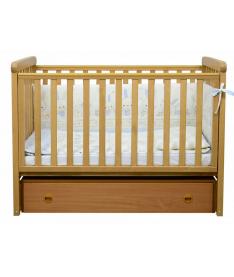Кроватка детская Верес ЛД12 бук (продольный маятник)