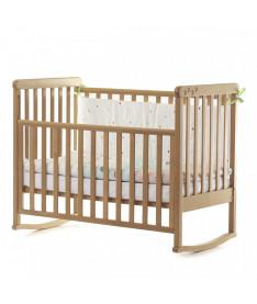 Кроватка детская Верес Соня ЛД12 без колес на ножках, съемная качалка, бук