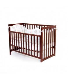 Кроватка детская Верес Соня ЛД13 без колес на ножках, съемные спицы, орех