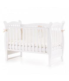 Кроватка детская Верес Соня ЛД15 без колес на ножках, белый