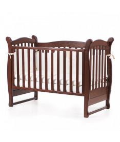 Кроватка детская Верес Соня ЛД15 без колес на ножках, орех