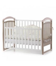 Кроватка детская Верес Соня ЛД6 без колес на ножках, капучино-розовый