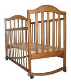 Кроватка Наполеон (без ящика) тонированная