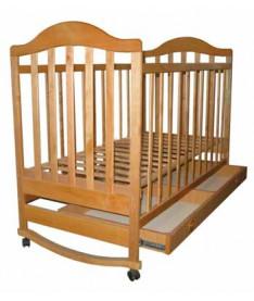 Кроватка Наполеон с ящиком (натуральная ольха)
