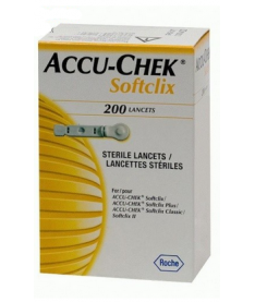 Ланцеты Акку Чек SoftLixe ( 200 шт.) в упаковке.