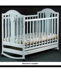 Laska-M Наполеон NEW Mix с ящ. (голубая) Кроватка