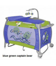 Манеж Bertoni I`LOUNGE 2L ROCKER (blue green captain bear)