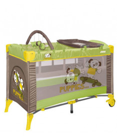 Манеж Just4kids ARENA 2L+ (green beige puppies)