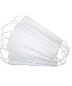 Маска медицинская тканевая трехслойная белая (10 штук)