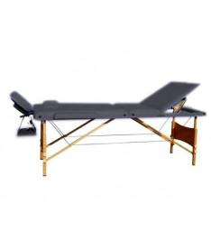 Массажный стол 3-х секционный Relax Fit HY-30110 черный