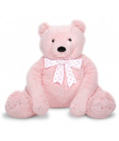 Melissa&ampDoug MD3980 Jumbo Pink Teddy Bear - Plush (Большой плюшевый мишка, розовый, 76см х 69см)