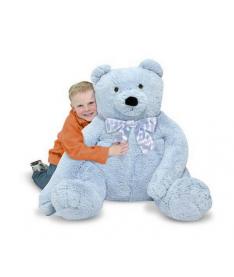 Melissa&ampDoug MD3983 Jumbo Blue Teddy Bear - Plush (Большой плюшевый мишка, голубой, 76см х. 69см)
