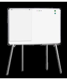 Мобильная доска для маркера ABC Office 100 x 150 см, алюминиевая рама