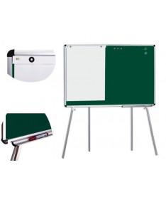 Мобильная доска для мела ABC Office 100 x 150 см, алюминиевая рама