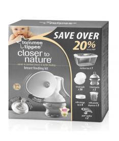 Молокоотсос и набор для грудного вскармливания Tommee Tippee