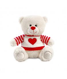Мягкая игрушка Lava Медвежонок Сэмми в свитере с сердечком музыкальный 18 см (LA8733D)