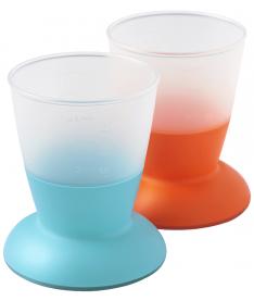 Набор из 2 чашек детский BabyBjorn Baby Cup 2-pack Orange/Turquoise