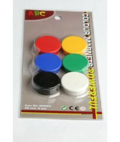 Набор магнитов ABC Office, диаметр - 25 мм, 6 шт, блистер