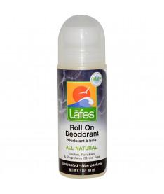 Натуральный органический роликовый дезодорант на основе конопляного масла LAFEs Без Запаха Lafe's Natural Body, 89 мл