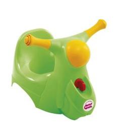 OK Bаby Детский горшок Scooter с звуковой фарой салатовый
