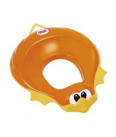 OK Baby Накладка на унитаз Ducka анатомический формы из мягкой резины оранжевый