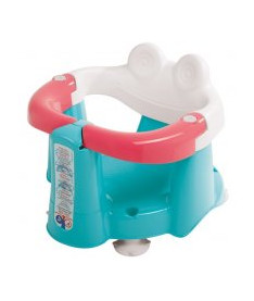 OK Bаby Сидение детское Crab для купания с присосками бирюзовый/розовый/белый
