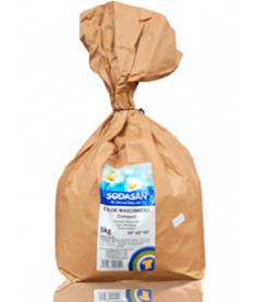 Органический порошок-концентрат стиральный Sodasan Compact для цветных и черных вещей, 5кг
