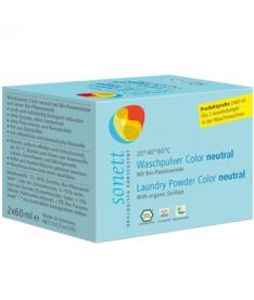 Органический порошок Sonett для цветных тканей Нейтральный, 2x60мл